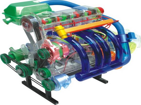 桑塔纳发动机总成模型