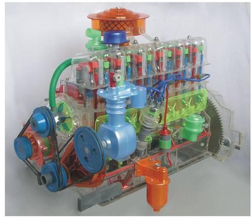 东风EQ140型发动机总成模型