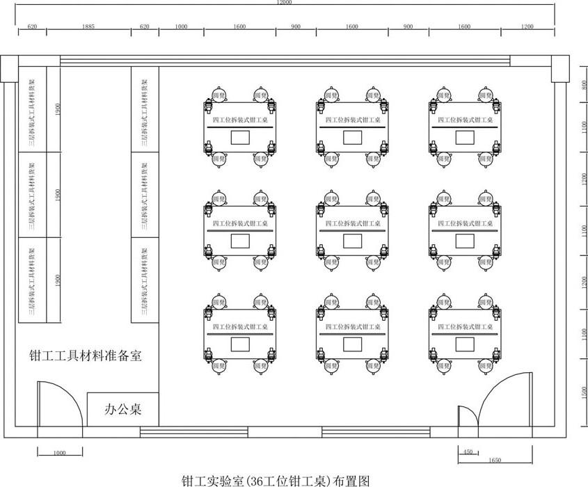 钳工实训室设计图